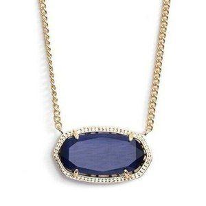 Kendra Scott Navy Blue Gold Dylan Pendant Necklace